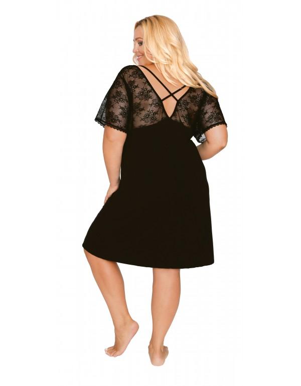 Вискозная ночная сорочка чёрная мод. 509 тмAkcent, Польша