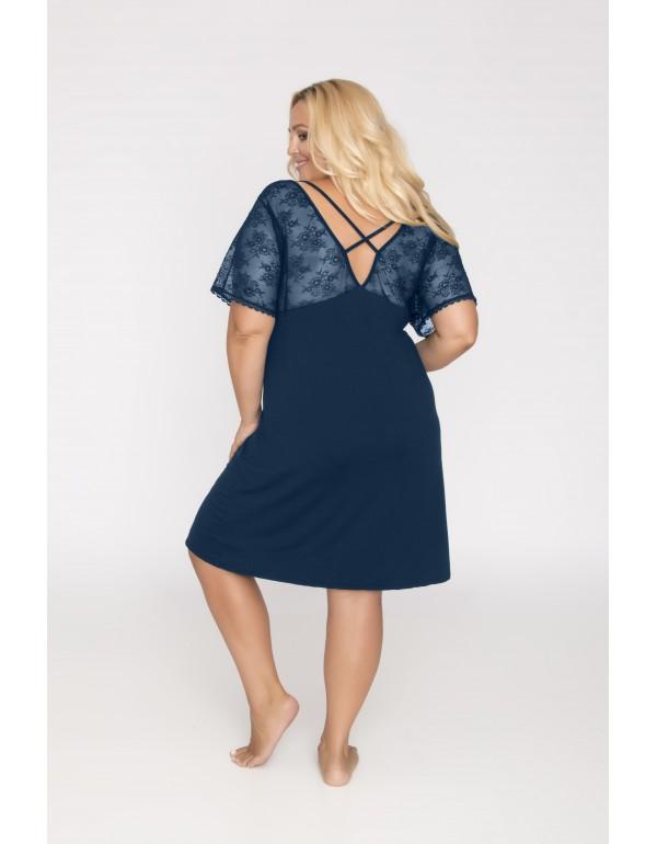 Вискозная ночная сорочка цвет индиго мод. 509 тмAkcent, Польша