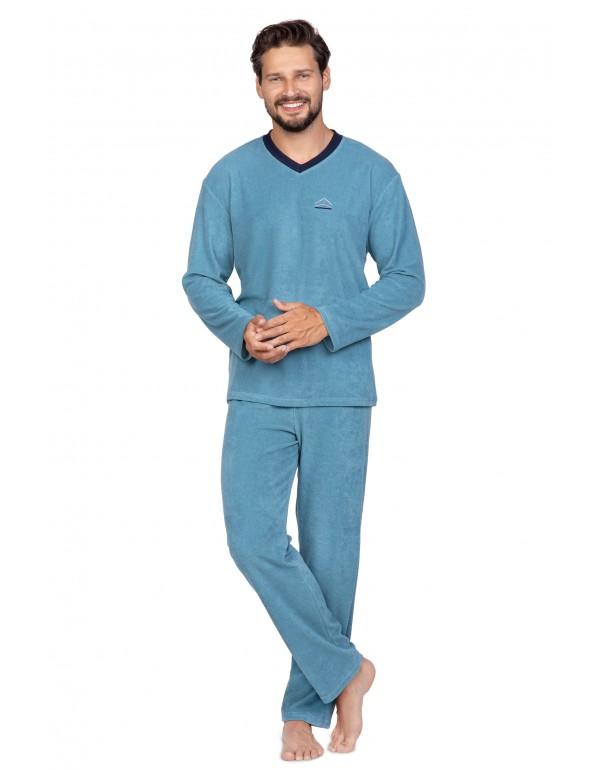 Мужская однотонная махровая пижама тмRegina, Польша