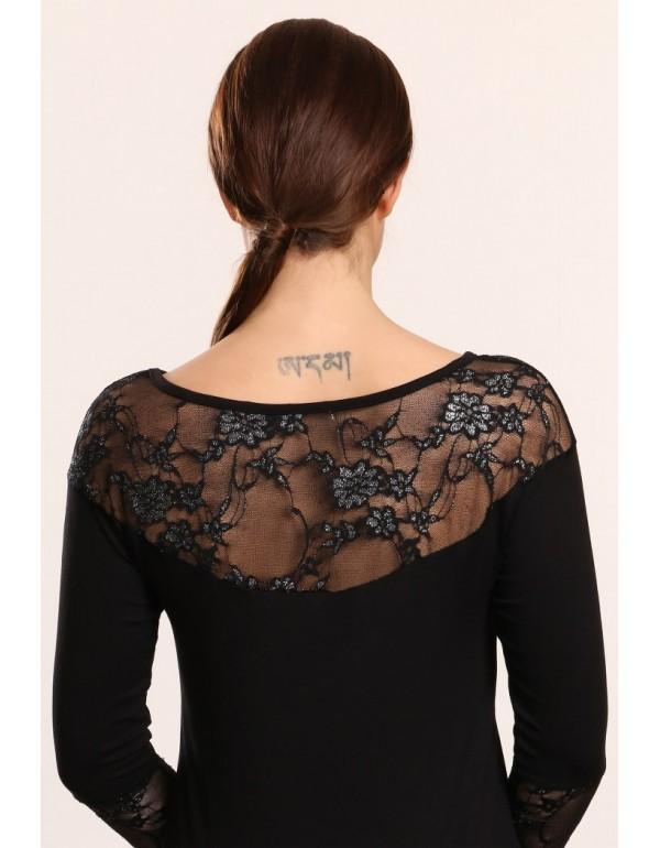 Rita элегантная вискозная блузка с кружевом тмViolana, Польша