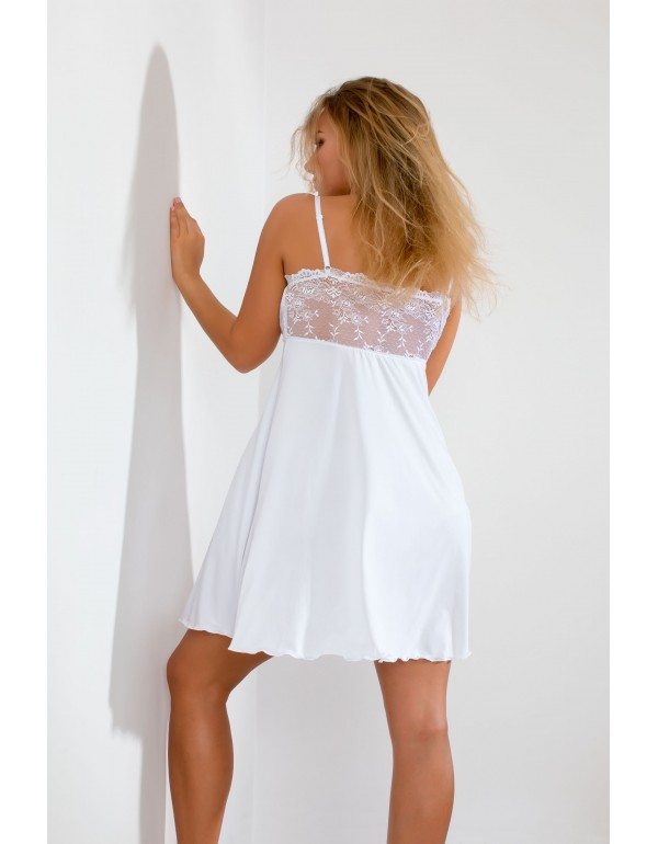 Белая ночная кружевная рубашка бюст бандо мод. 103 тмAkcent, Польша
