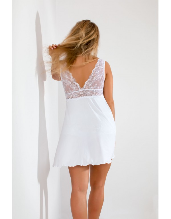 Кружевная белая рубашка для сна мод. 106 тмAkcent, Польша
