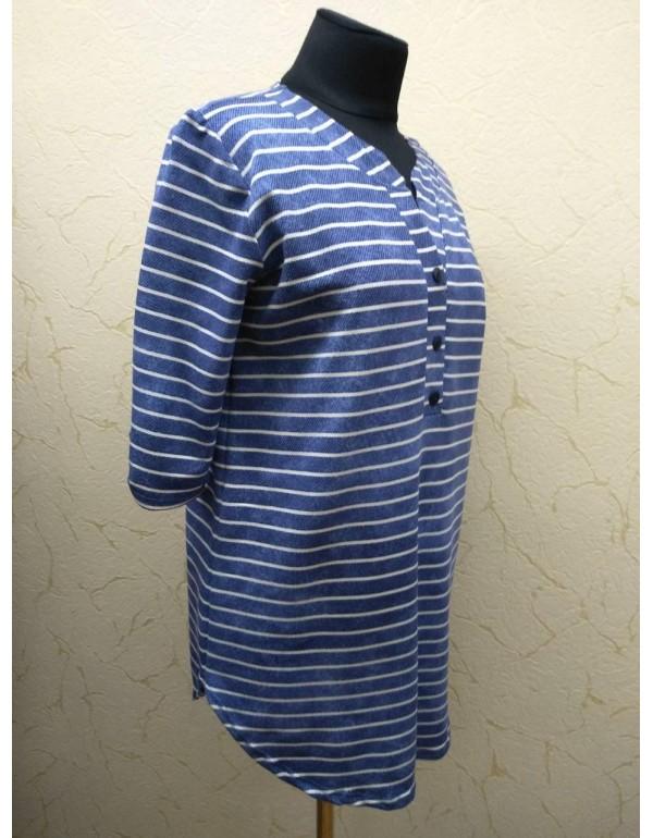 Женская блуза-туника джинс в полоску тмKing, Польша