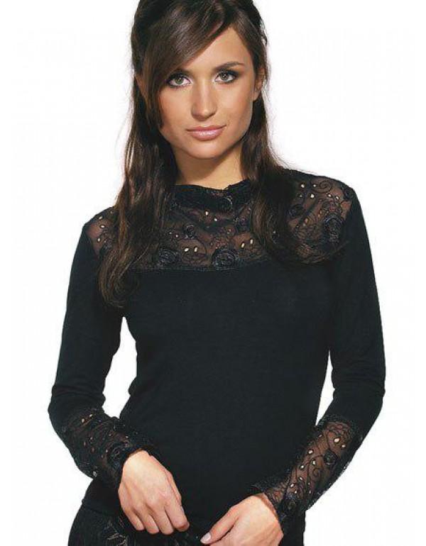 Стильная блуза с длинным рукавом ESTERA тмViolana, Польша