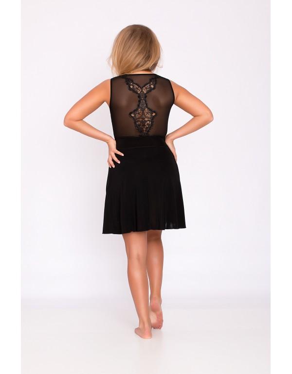 Платье для сна с узором на спине чёрного цвета мод. 116 тмAkcent, Польша