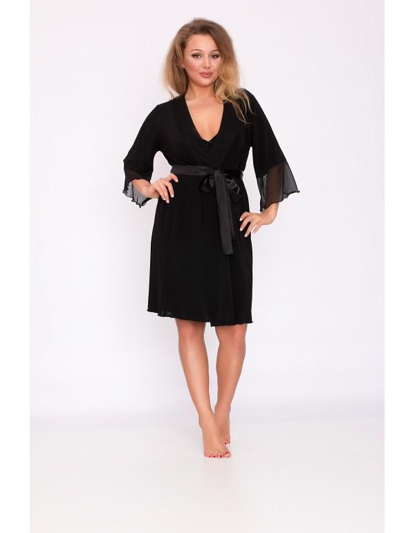 Женский чёрный пеньюар  мод. 120 тмAkcent, Польша
