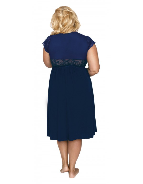 Сорочка с изысканной отделкой французским кружевом мод. 504, тмAkcent