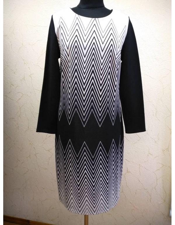 Платье миди от Loren с геометрическим рисунком