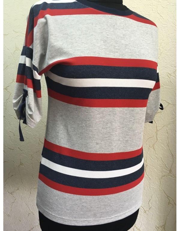 Трикотажная блуза в полоску мод. 1037