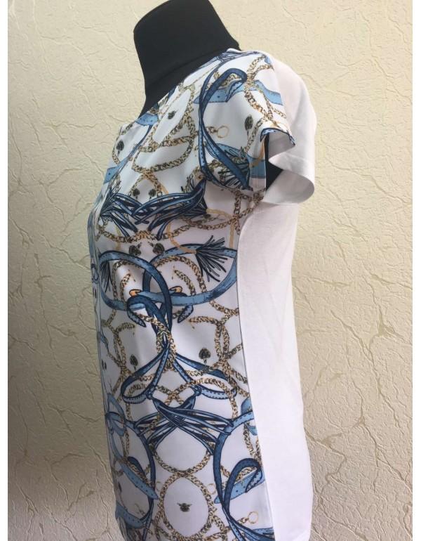 Летняя женская блузка с модным принтом тмM.Hajdan, Польша