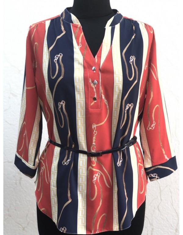 Легкая и удобная женская блузка с ремешком тмBаll Collection, Польша