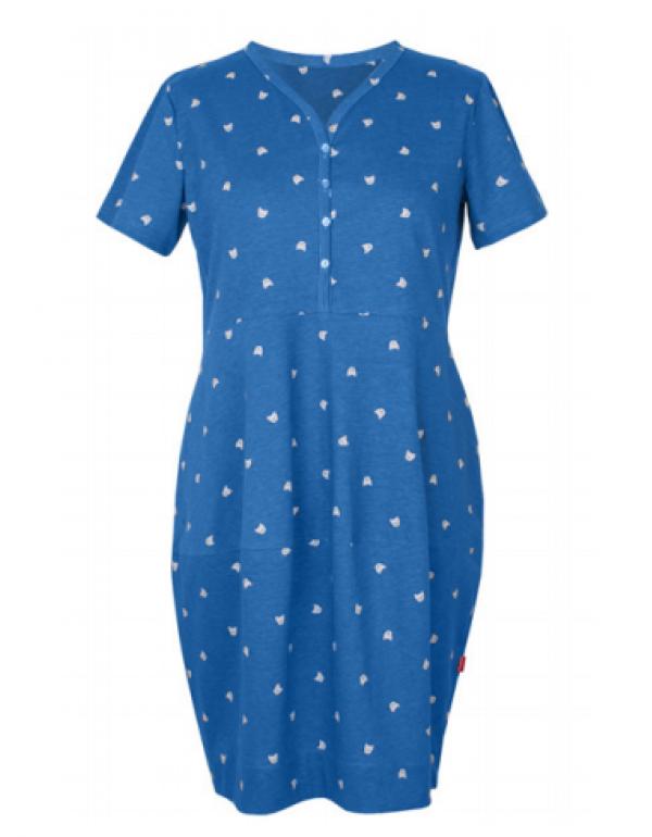 Хлопковая женская ночная рубашка на пуговицах от тмMUZZY, Польша