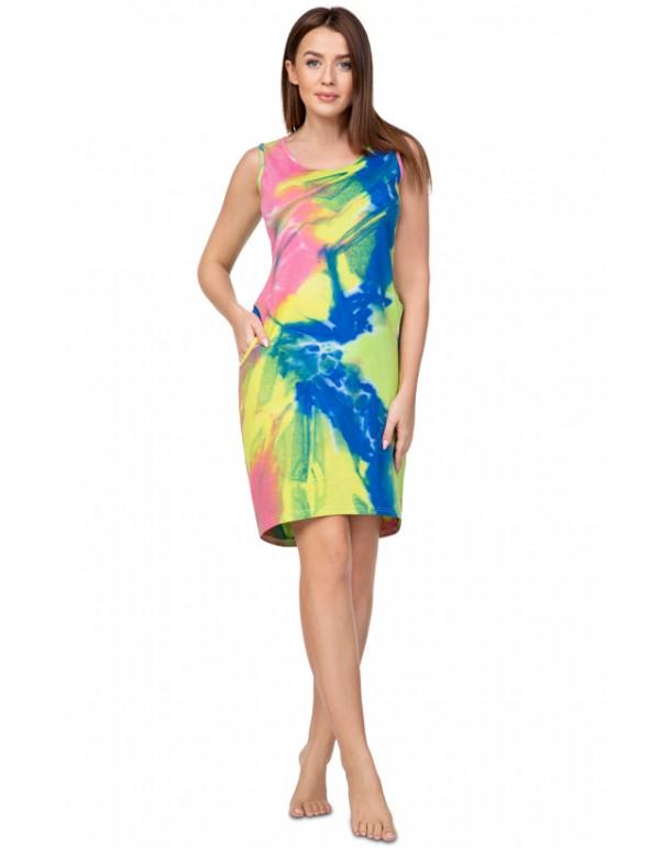 Хлопковое женское платье с карманами тмRegina, Польша разм. 2XL