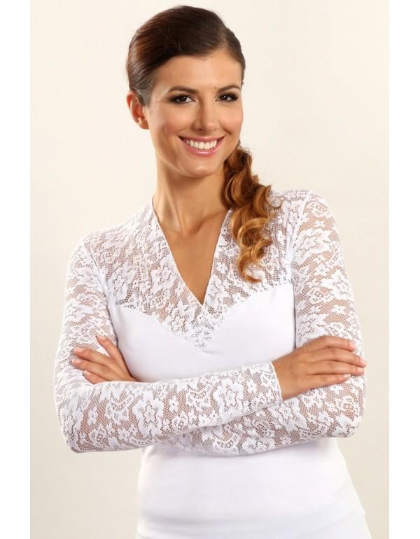 Блуза с кружевными рукавами CHRISTINA
