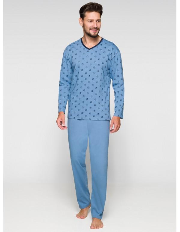 Мужская пижама тёмно-синий цвет длинный рукав тмRegina, Польша