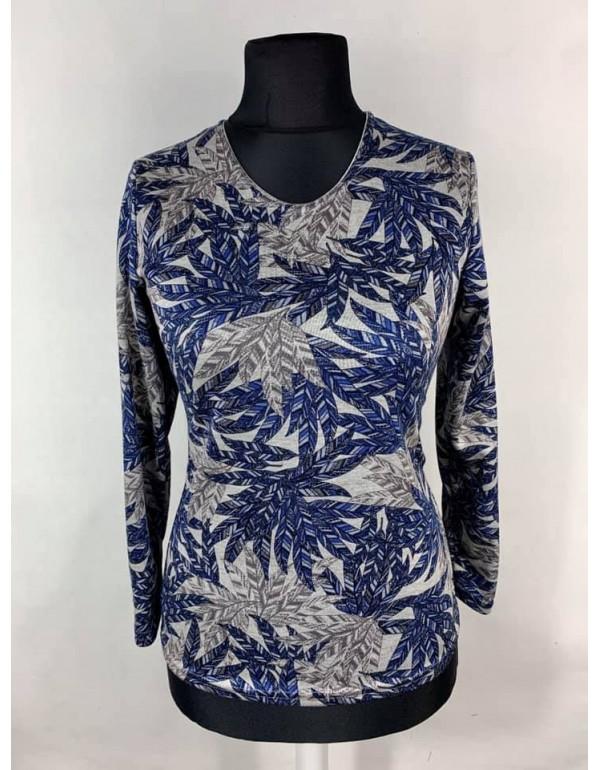 Женская теплая блуза с листовым принтом от тмAGA, Польша