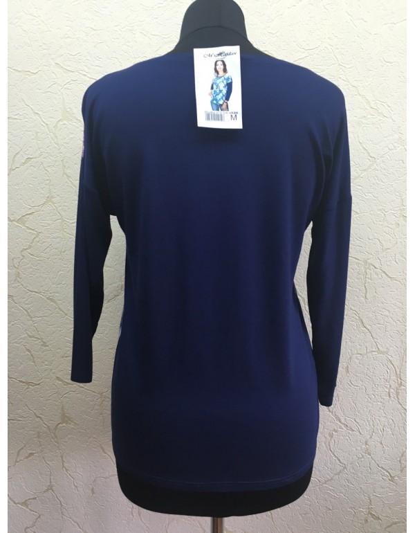 Блузка 3/4 рукав с цветочным принтом мод. 979 тм M.Hajdan, Польша