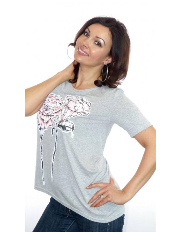 Вискозная футболка с рисунком цветов от  тмM.Hajdan, Польша