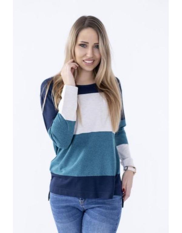 Блуза трикотаж длинный рукав  тмM.Hajdan Польша