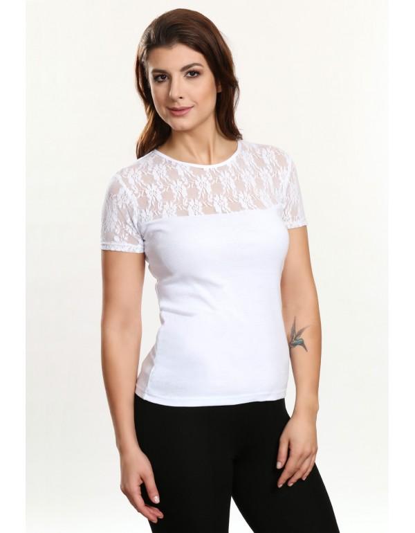 Блуза с кружевом ELA