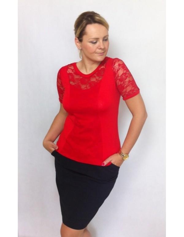 Женская вискозная блузка Bonita с кружевом тмJustti, Польша