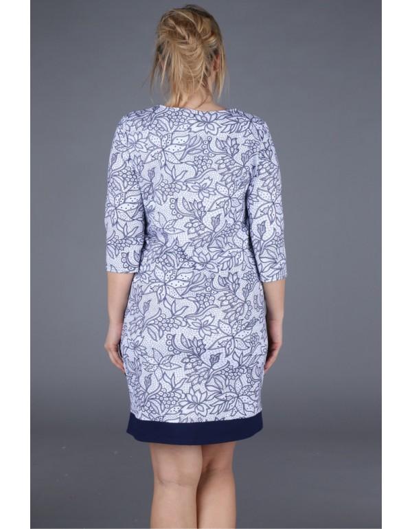 Распродажа!!! Трикотажное платье с цветочным принтом