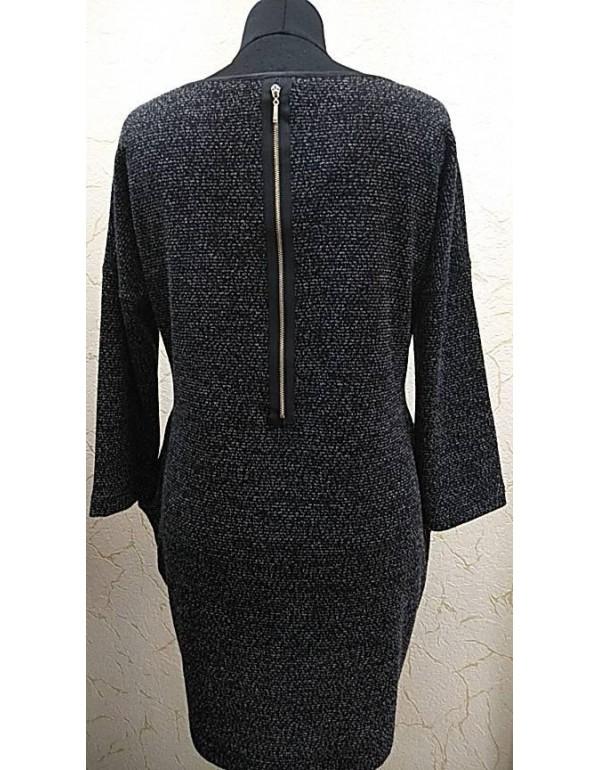 Платье-туника с карманами (бижутерия в подарок)
