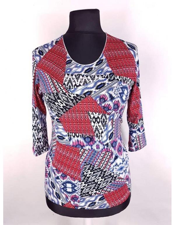 Женская вискозная блузка с абстрактным принтом тмAga, Польша