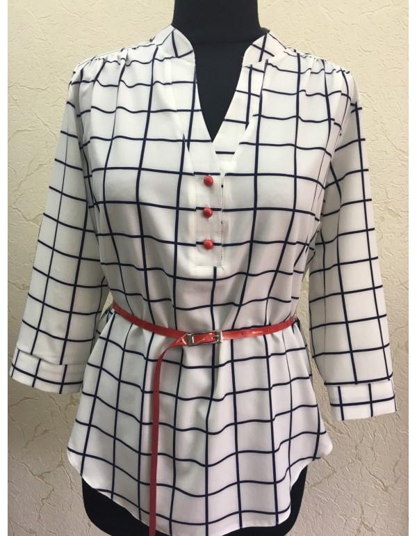Женская блузка в клетку тмBаll Collection, Польша