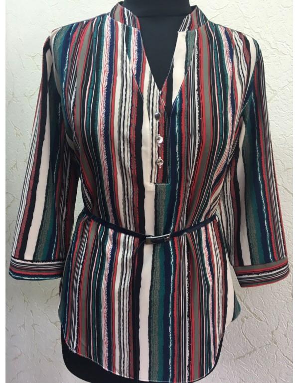Элегантная женская блузка в полоску тмBаll Collection, Польша