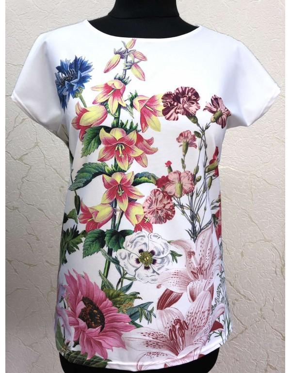 Вискозная летняя женская блуза тмM.Hajdan, Польша мод. 1097