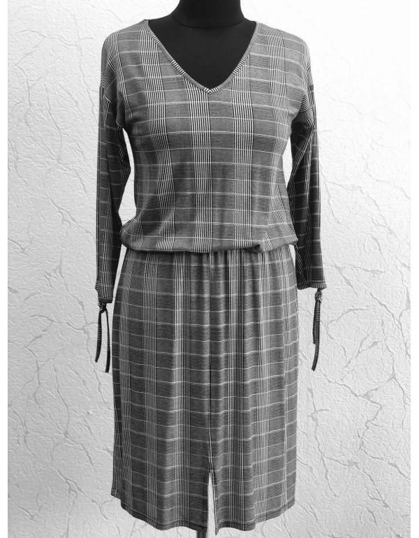 Вискозная женское платье в клетку тмLoren, Польша