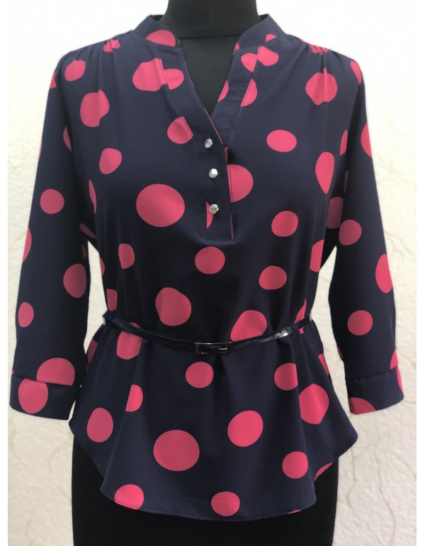 Женская блузка 3/4 рукав горох от тмBаllCollection, Польша