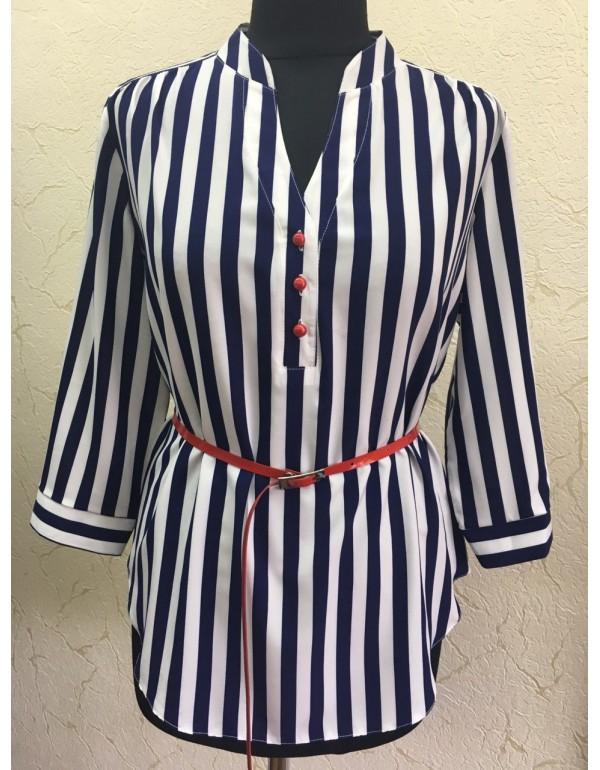 Стильная женская блузка в полоску тмBаll Collection, Польша