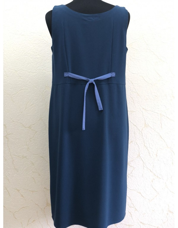 Вискозное женское платье синего цвета тмPata, Польша