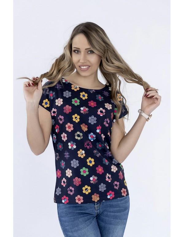 Вискозная летняя блуза тмM.Hajdan, Польша мод. 1097