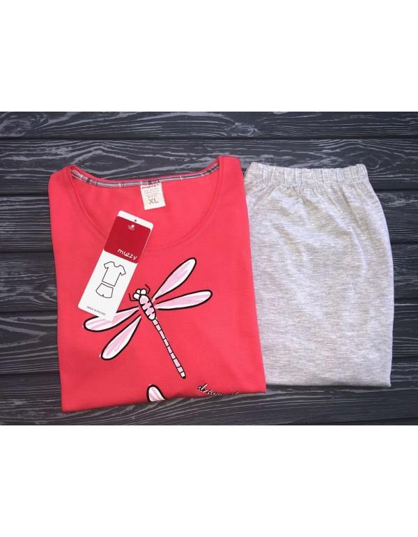 Пижама женская футболка и шорты р. XL, тмMuzzy, Польша