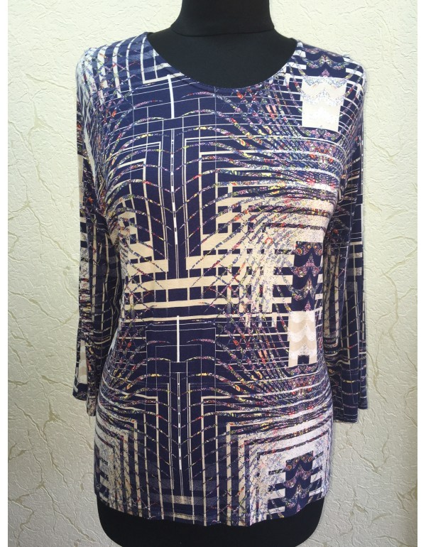 Вискозная блузка с абстрактным принтом тмAga, Польша