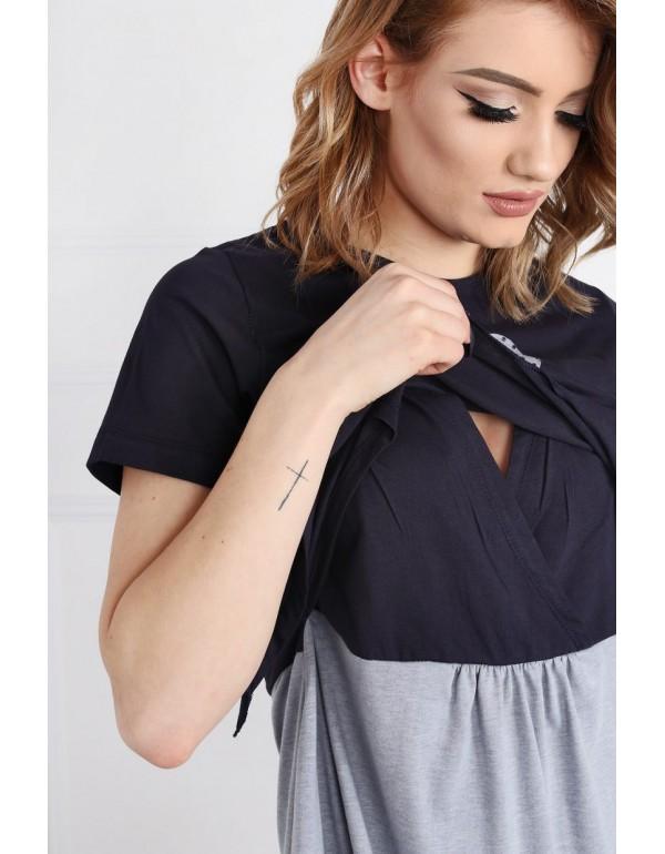 Стильная и удобная рубашка для беременных и кормящих от тмMUZZY, Польша