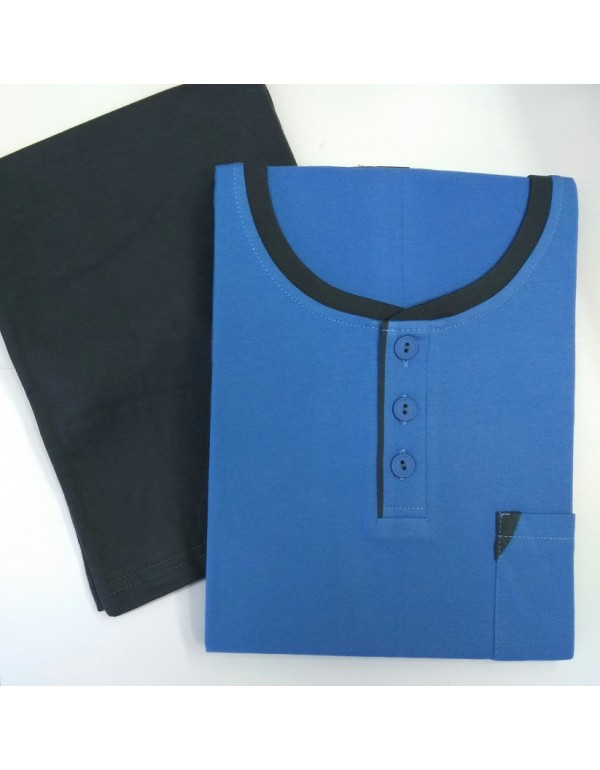 Пижама мужская синяя 502 футболка и шорты