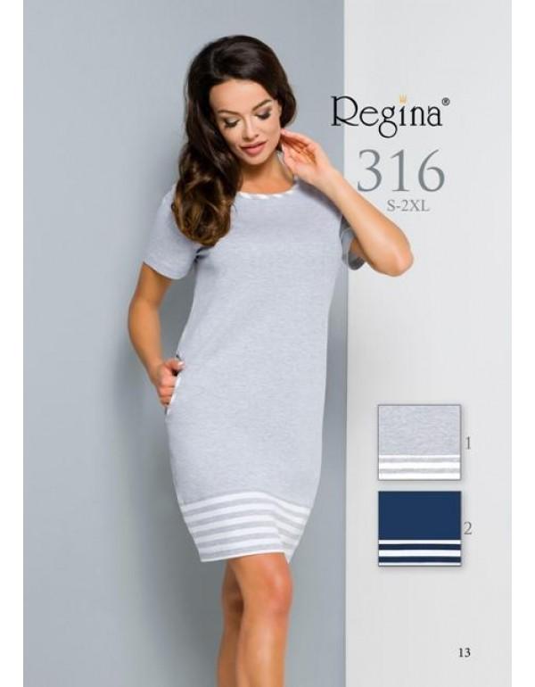 Домашнее платье с карманами короткий рукав мод. 316