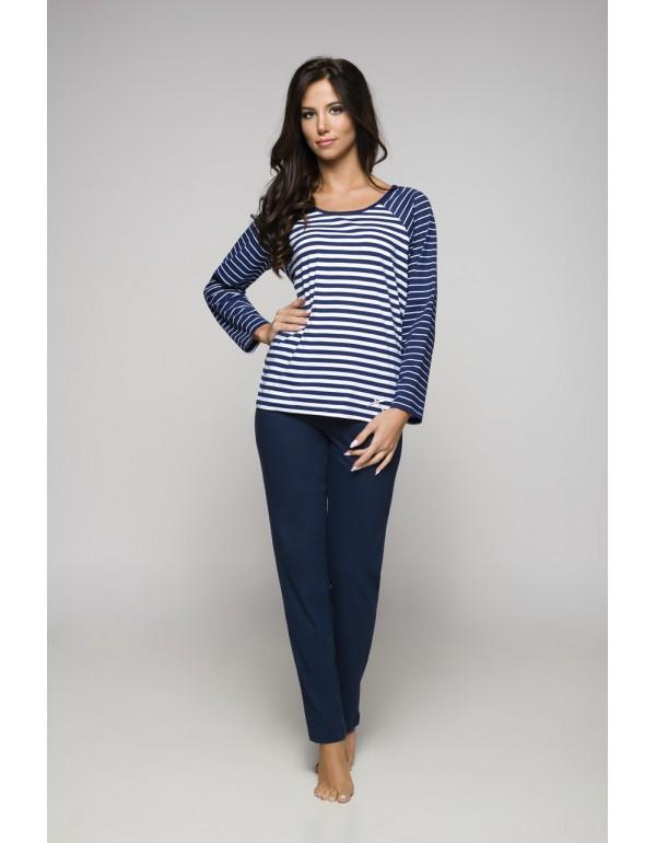 Пижама женская кофта в полоску и однотонные штаны мод. 871