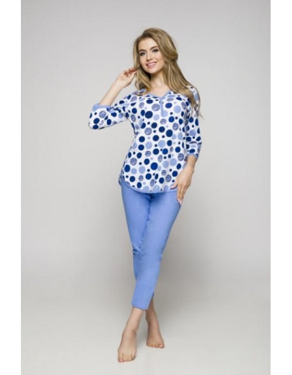 Голубая женская пижама в горошек от тмRegina, Польша