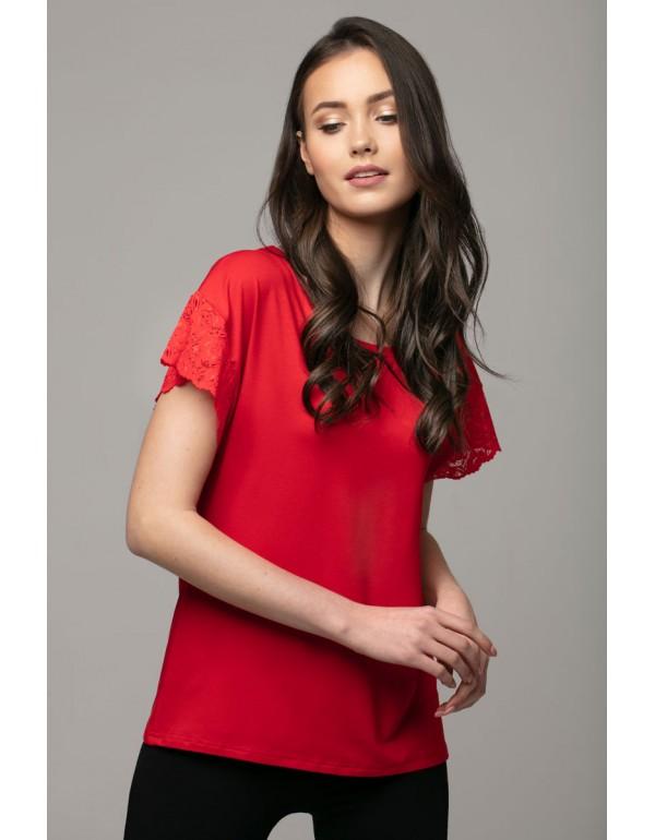 Nancy черная блузка с кружевом на спине тмViolana Польша